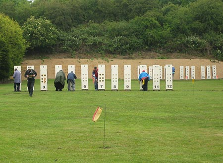 Outdoor 100 yards Small-bore Rifle Shooter